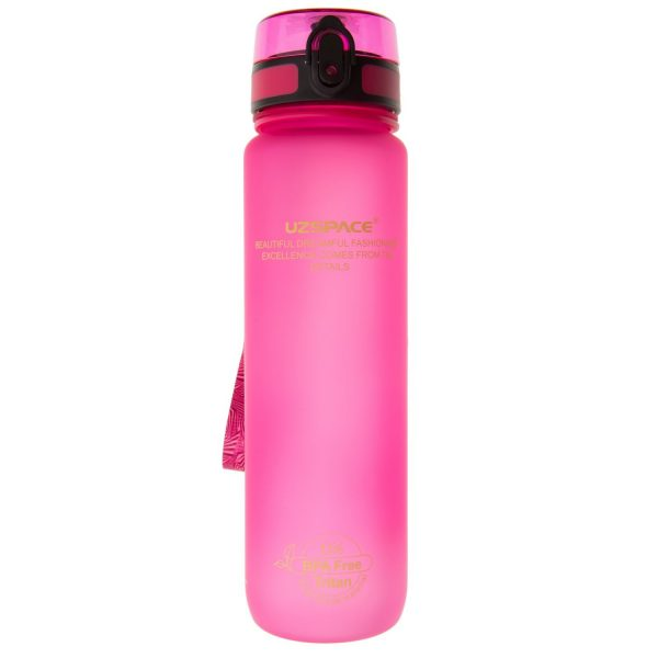 Спортивна пляшка для води Uzspace Colorful Frosted-Tritan 1000мл 3038